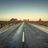 View Of Road To Monument Valley