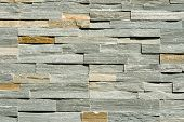 Flat Stacked Stone Wall Background