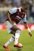 BARCELONA - SEPTEMBER, 5: Ricardo Vaz Te of West Ham United in action during a friendly match against RCD Espanyol at the Estadi Cornella on September 5, 2013 in Barcelona, Spain