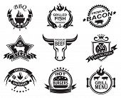 Set of elements for a restaurant designs