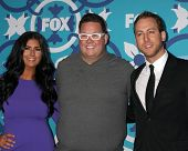 LOS ANGELES - SEP 9:  Natasha Crnjac, Graham Elliot, Luca Manfe at the FOX Fall Eco-Casino Party at
