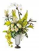 Bouquet Of Orchid And Calla Lily In Glass Vase