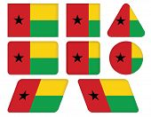 Buttons With Flag Of Guinea-bissau