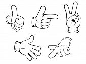 Set of positive hands gestures