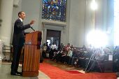 Barack Obama Speaks At At Church