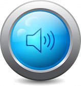 Web Button With Speaker Icon