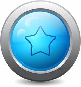 Web Button With Star
