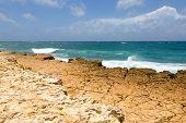 Rocky Limestone Atlantic Coastline At Half Moon Bay