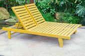 Two Lounge Chairs In Garden