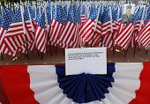 343 American Flags In The Memory Of Fdny Firefighters Who Lost Their Life On September 11, 2001