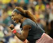 Sixteen times Grand Slam champion Serena Williams during her doubles match on US Open  at US Open 20