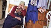 Pensive Senior Women