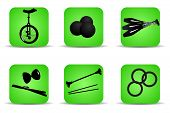 Juggling Icons Green