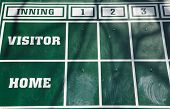 Old Fashioned Baseball Scoreboard