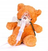 Oxygen mask and a bear