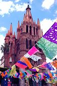 Famous La Parroquia church in San Miguel de Allende, Mexico