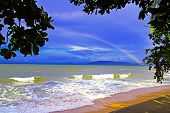 Rainbow in Ao Nang Beach.