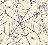 Happy Halloween Spider Webs Seamless Pattern Background Eps10 File.