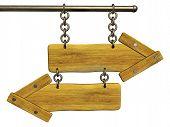 3D Retro Wooden Arrows