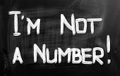 I Am Not A Number Concept