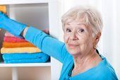 Senior Woman During Household Chores