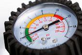 A compressor pressure gauge
