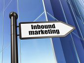 Business concept: sign Inbound Marketing on Building background