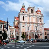 St. Casimir In Vilnius. One Of The Many Beautiful Churches Vilnius