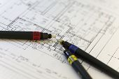 Special Pens For Architect On An Architect Plan