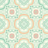 picture of floor covering  - Background vintage flower - JPG