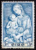 Postage Stamp Ireland 1954 Madonna By Della Robbia