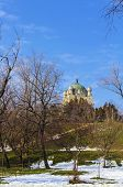 picture of crematory  - Crematory building in Tineretului Park Bucharest Romania - JPG