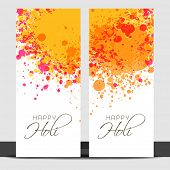 Beautiful banner set design with colours splash.