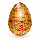 Golden Egg With Flowers
