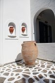 Sculpture And Villa On Paros Island