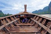 Head Of Traditional Longtail Boat