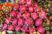 pic of dragon fruit  - Dragon fruit on market  - JPG