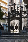 Gothic Coulter Of Access To The Royal Chapel In The Oficios Street, Granada, Andalusia, Spain