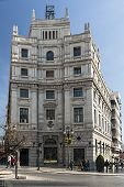 Post Office Building In Puerta Real Square, Granada, Andalusia, Spain