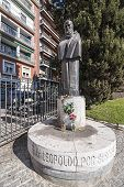 Monument To Fray Leopoldo De Alpandeire In Plaza Del Triunfo, Granada, Andalusia, Spain