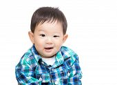 Asia baby boy portrait