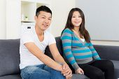 Asia couple with pregnant wife