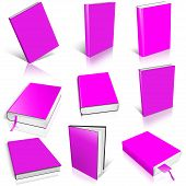 Nine Magenta Empty Book