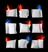 paper backgrounds Origami and fire
