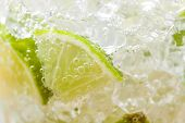 foto of mojito  - Mojito cocktail with fresh lime close up - JPG
