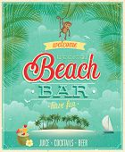 foto of tiki  - Vintage Beach Bar poster - JPG
