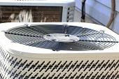 picture of air conditioner  - Close up image of an air conditioner top - JPG