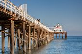 Fishing On A Wooden Pier In Malibu