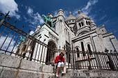 Basilica Of The Sacred Heart Of Jesus On Montmartre Hill,