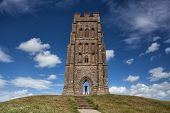 Glastonbury Tor Located On A Windy Hill In Somerset